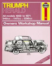 0010 Haynes Triumph Herald 1959 - 1971 Manuale di Officina