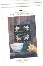 """Quilt Pattern Lake View Primitives DOUBLE TULIP Craft Pattern 12"""" x 12"""""""