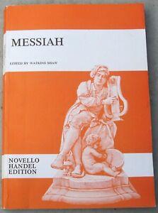 "Handel's ""The Messiah"" Oratorio - Novello Edition Vocal Score Sheet Music Book"