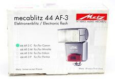 Metz Flash 44 AF-3 For Canon Cameras. Ex. Box.
