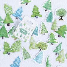 45Pcs Cute Forest Tree Mini Paper Stickers Decoration DIY Scrapbook Diary Beamy