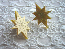 'STARBURST' ATOMIC STAR GOLD GLITTER STUD EARRINGS ... 1950'S / RETRO / ETCHED