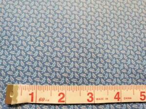 """34""""  Vintage Blue/Lavender Tiny Leaf Print Quilting Cotton - Cranston"""