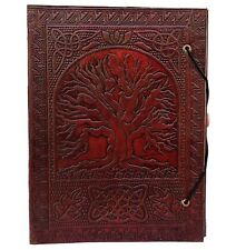 Large Tree of Life Leather Journal Bound Leather Journal Leather Journal to W...