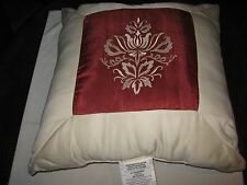 """Royal Heritage Home , Pillow , Red and White , 18"""" X 18"""""""