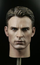 1/6 Male Head Model Captain America Steve Rogers Head Carved Collectible Model