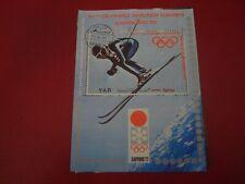 New listing YEMEN - 1972 DOWNHILL SKIING - MINISHEET - UNMOUNTED USED MINIATURE SHEET