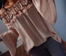Shirt 44 Tunika Italy Spitze Musthave Rosa Bluse Chic Blumen XL Neu Blogger 2018