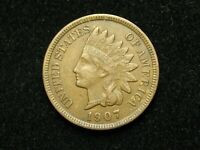 SUMMER SALE!!  XF 1907 INDIAN HEAD CENT PENNY w/ DIAMONDS & FULL LIBERTY #93c