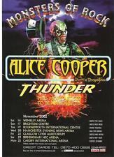 ALICE COOPER / Thunder 2002 Tour UK magazine ADVERT / mini Poster 11x8 inches