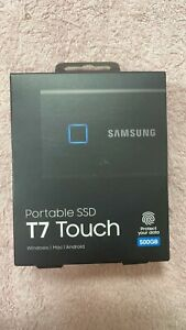 Samsung T7 Touch Portable SSD 500Gb Black External Solid State Drive MU-PC500K/W