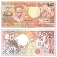 Suriname 500 Gulden 1988 P-135b Banknotes UNC