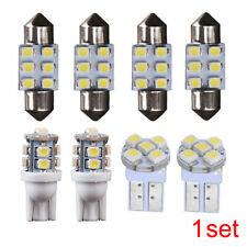 8x T10 & 30mm 31mm Car White LED Bulb License Interior Package Kit Festoon Light
