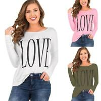 Women Blouse Autumn Casual Loose Long Sleeve Ladies Blouse Tops Casual T-shirt