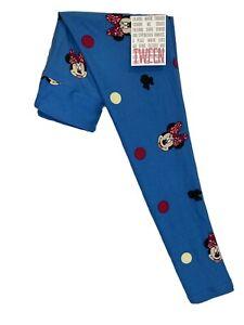 LuLaRoe Disney Tween Leggings #3548 - Minnie Mouse on Blue - Tween