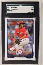 2012 Bowman #50 Texas Rangers Yu Darvish Rookie Card SGC 96