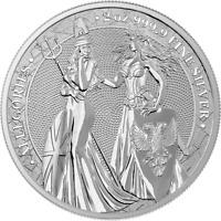 Germania 2019 10 Mark Allegorien - Britannia & Germania 2 Oz Silbermünze