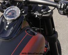 Flacher Tankdeckel, schwarz, für Harley Softail Fat Bob FXFB ab 2018