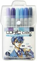 Copic Ciao set of 6 character select 2 cool color