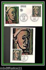 1971//FRANCE-FDC CP+ENVELOPPE*G.ROUAULT-ART-TABLEAUX-OBL.PARIS**TIMBRE..Y/T.1673