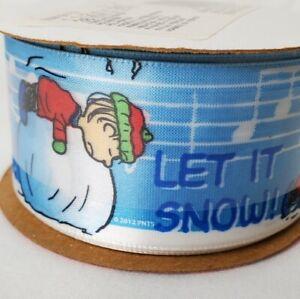 Offray Peanuts Linus Snoopy Satin Ribbon Christmas Winter 18' Total Vintage USA