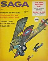 Saga Vtg Dec 1960 Mens Magazine War Fighter Pilot Hellbent Squadron Duke Windsor