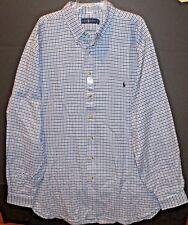 Polo Ralph Lauren Big & Tall Mens Blue Check Flannel Button-Up Shirt NWT Size LT