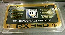 """LEXUS GOLD """" L RX350 L"""" LICENSE PLATE FRAME"""