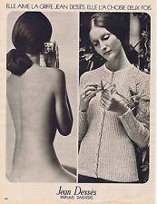 Publicité Advertising 016 1972 Jean Dessés parfum 'Sweaters'