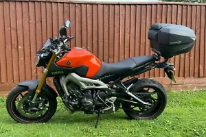 Yamaha MT09 2014 Orange only 3473 miles 1 previous owner