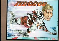 SERGEI FEDOROV The Free Press DETROIT RED WINGS 8x10 Collector Card!