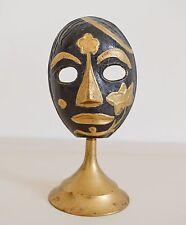 Brass Mask Drama Vintage Etched Black Handmade Decorative Ornaments Sculpture