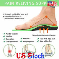 Unisex Orthotic Insoles Flat Feet Arch Support Inserts Pad For Plantar Fasciitis