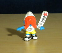 Smurfs 20528 Goal Getter Smurf Rare Vintage Soccer Figurine PVC Toy Figure Peyo