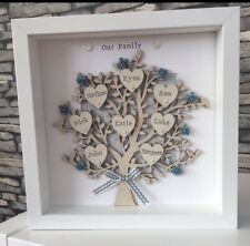 Christmas Gift For Grandparents And Family - Personalised Family Tree Frame