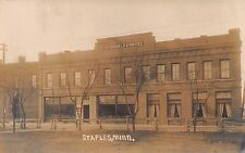 MN 1900s RARE! REAL PHOTO St. Charles Hotel in Staples, Minnesota Todd & Wadena