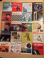 39 LP Lot 50s/60s Early Rock Pop in VINTAGE Record Case GREAT DEAL! LOOK!