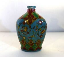 """yrn57 ISLAMIC GLASS PAINTED BOTTLE Middle Eastern 4"""" high"""