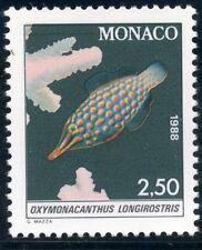 TIMBRE DE MONACO N° 1617 ** FAUNE / POISSON / OXYMONACANTHUS LONGIROSTRIS