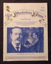 1994 THE SHERLOCKIAN TIMES Fanzine Magazine  VG/ FN Fall/Winter 24pgs