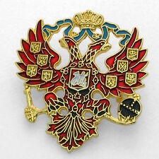 Lapel Pin - Russian Double Headed Eagle - Imperial Romanov Czar -Colorful Enamel