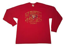 San Francisco 49ers T-shirt Big and Tall Tee Red Long Sleeve 2x NFL Apparel