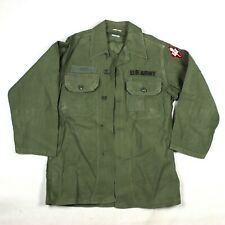 OG-107 FIELD FATIGUE SHIRT JACKET GREEN COTTON EARLY CORPS OF ENGINEERS PATCH