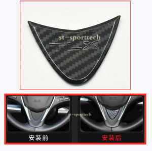 2016- 2020 For Acura TLX Carbon fiber Style Steering Wheel Decorative Cover Trim