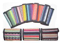 Stripe Aztec Wallet Card Coin Note Section Zip Cotton Men Women Purse Hippy