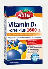 Abtei Vitamin D3 Forte Plus 1600 I.E. 42 St. Immunsystem, Knochen, PZN 12369006