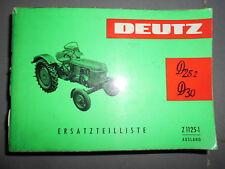 Deutz tracteur D25.2, D30, D30S : catalogue de pièces Z1125-1