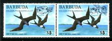 BARBUDA 213-214, MNH, 1975 FRIGATE BIRD ISSUE SCV-$11.0 - Overprinted. x11408