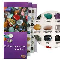 Edelsteintafel - Bestimmung Kompakt Trommelsteine ~ Halbedelsteine Mineralien