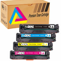 4 Toner Cartridge CF500A 202A Black Color for HP LaserJet Pro MFP M254dw M281fdw
